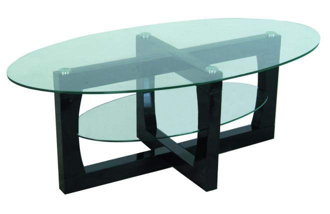 Mesa de sal n moderna ovalada carly miliboo - Mesa salon moderna ...