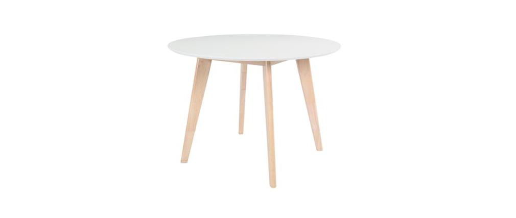 Mesa diseño madera y blanco D100 LEENA