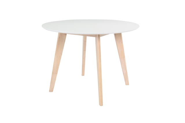 Mesa diseño madera y blanco LEENA