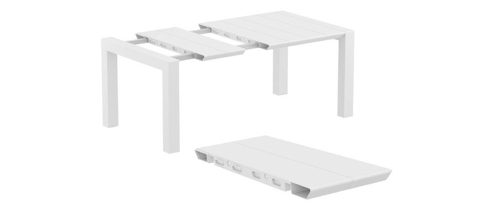 Mesa extensible de exterior color blanco L100-140 cm PRIMAVERA