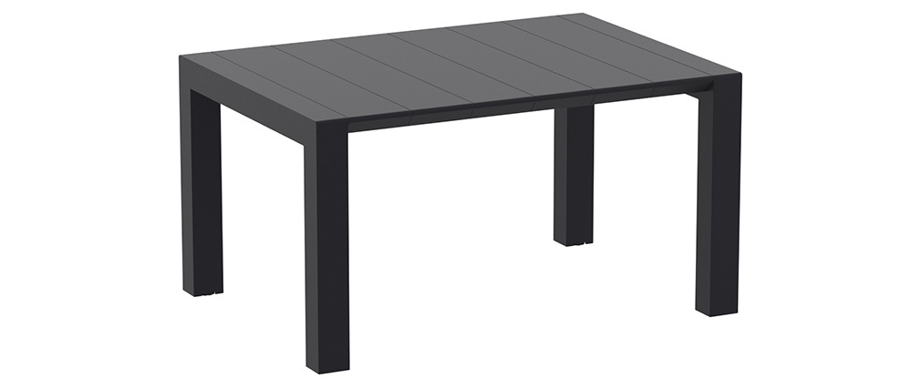 Mesa extensible de exterior color negro L100-140 cm PRIMAVERA