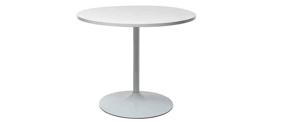 Mesa pequeña diseño 90cm blanca CALISTA