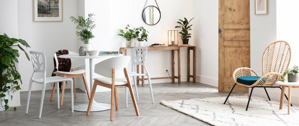 Mesa pequeña diseño blanca D90 CALISTA
