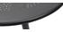 Mesa plegable redonda en metal negro D60 DOTS