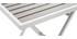 Mesa y 2 sillas plegables blanco y gris MOJITO
