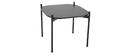 Mesas de centro 75 y 50 cm gris/negro patas metal - lote de 2 SEGA