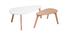 Mesas de centro nordicas roble y blanco (lote de 2) ARTIK
