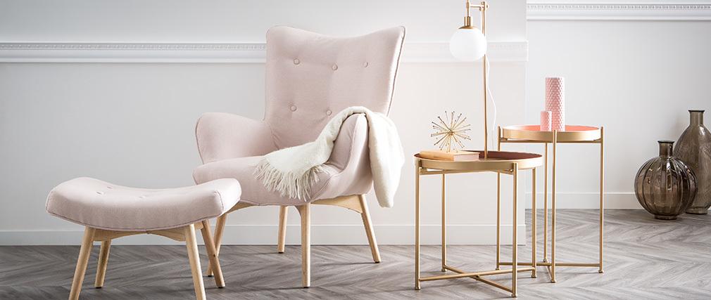 Mesas nido dorado y rosa PINKS