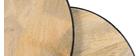 Mesas nido mango y metal BARREL