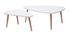 Mesas nido nórdicas blancas y madera clara (lote de 2) ARTIK