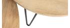 Mesas nido redondas en mango y metal (lote de 2) VIBES
