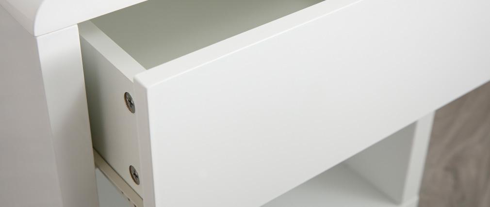 Mesilla de noche de diseño lacada brillante blanca ELIAH