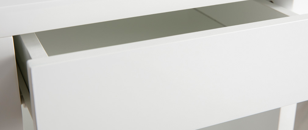 Mesita de noche diseño giratorio blanco brillante MAX
