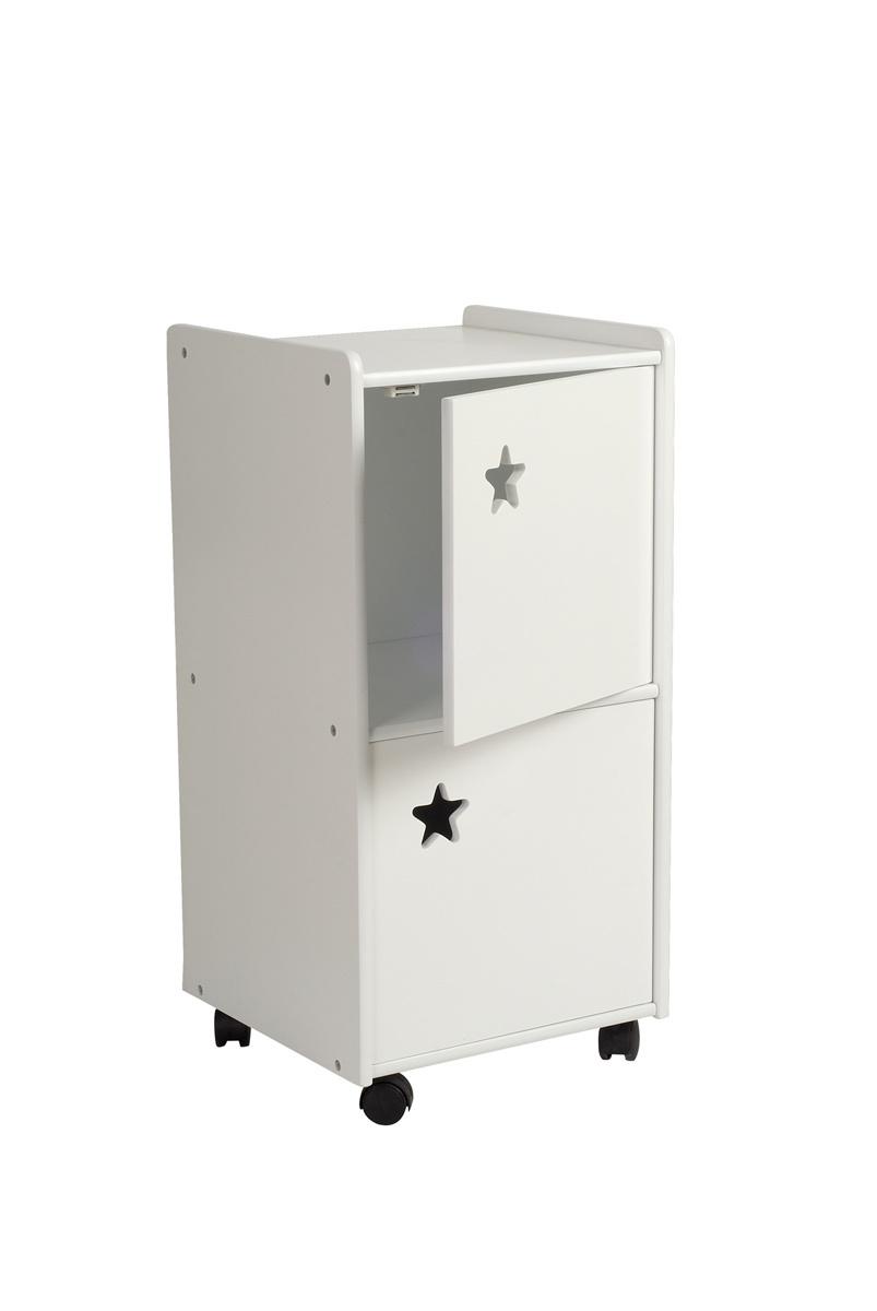 Mueble almacenaje para niños 2 puertas blanco ESTRELLA