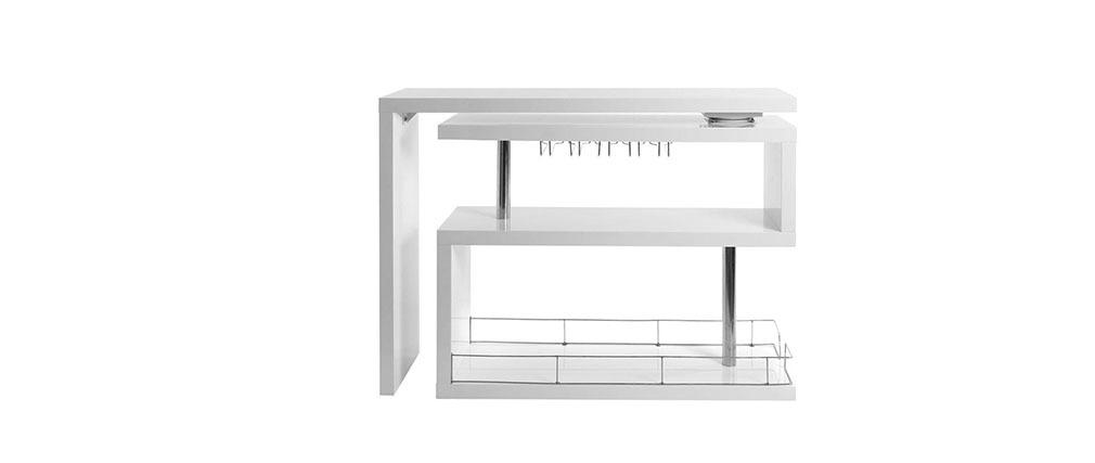 Mueble-bar diseño lacado blanco móvil MAX