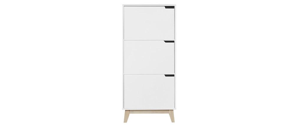 Mueble de almacenaje blanco 3 puertas LEENA