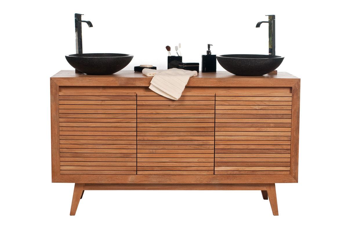 Muebles lavabo doble seno 20170817012600 for Muebles de bano negro