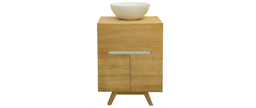 Mueble de baño en teca con lavabo CALAM