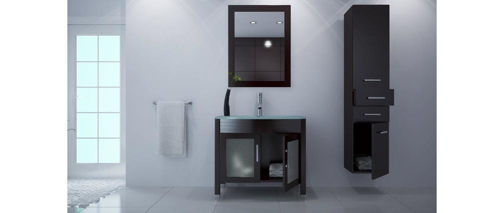 Mueble de ba o lavabo armario espejo y columna millo for Armario columna de bano