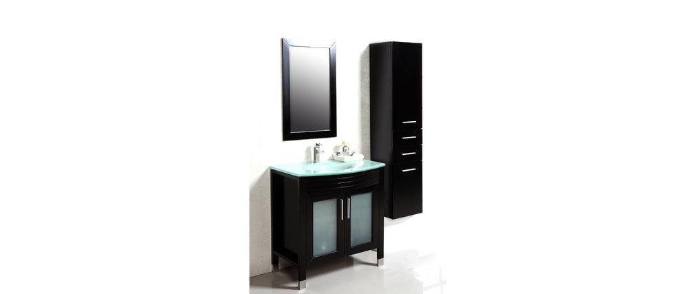 Mueble Baño Columna Wengue:Mueble de baño: lavabo, armario, espejo y columna MILLO ( Este