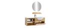 Mueble de baño: lavabo, armario, estante y espejo EYTAN