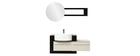 Mueble de baño: lavabo, armario y espejo MARLO