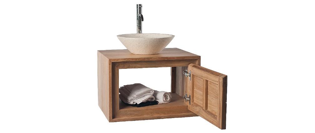 Mueble de baño: mueble en teca (sin lavabo) PEKKA
