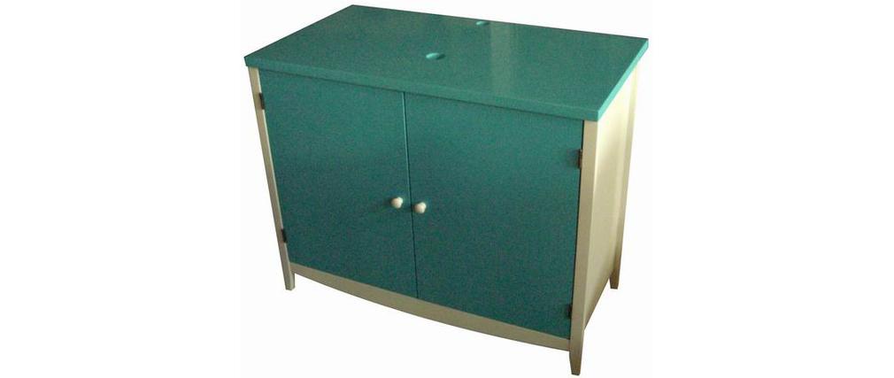 Mueble de cuarto de ba o base para lavamanos tropic for Muebles de bano azul