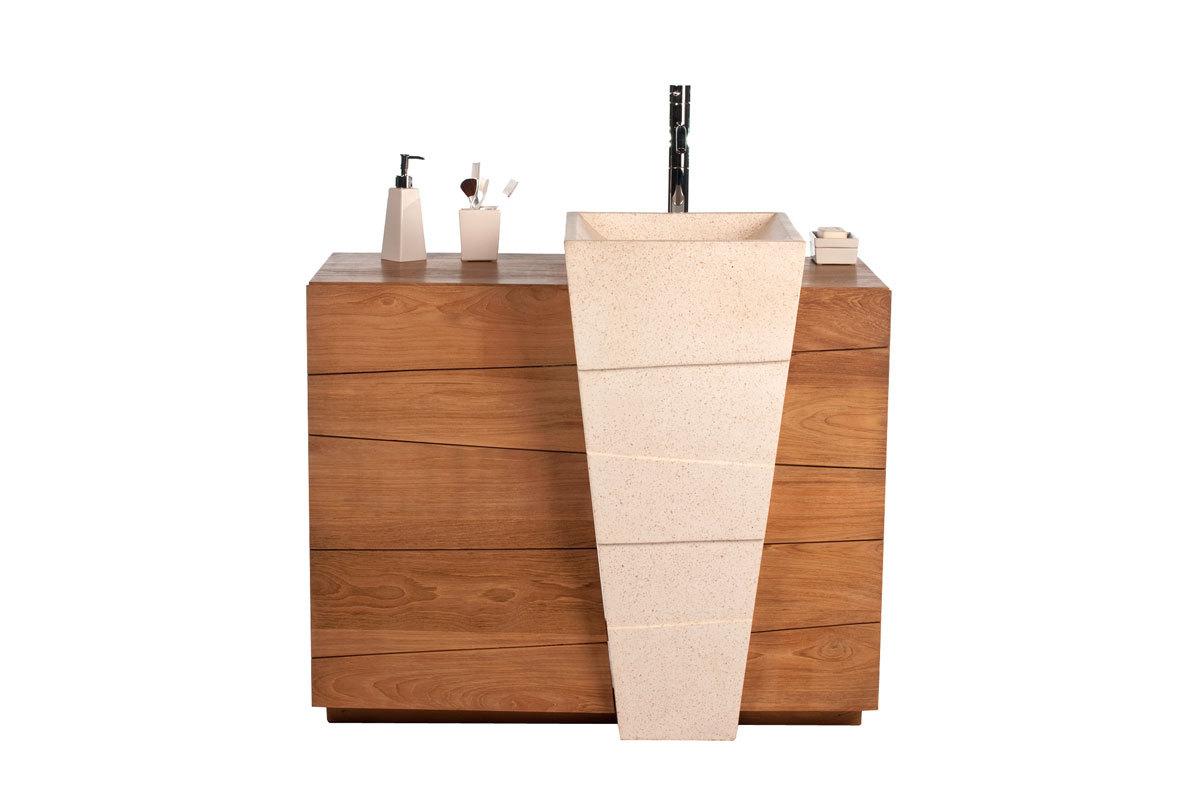 muebles para bao san justomueble de cuarto de bao diseo tnico en teca y granito lavabo muebles para bao san justo