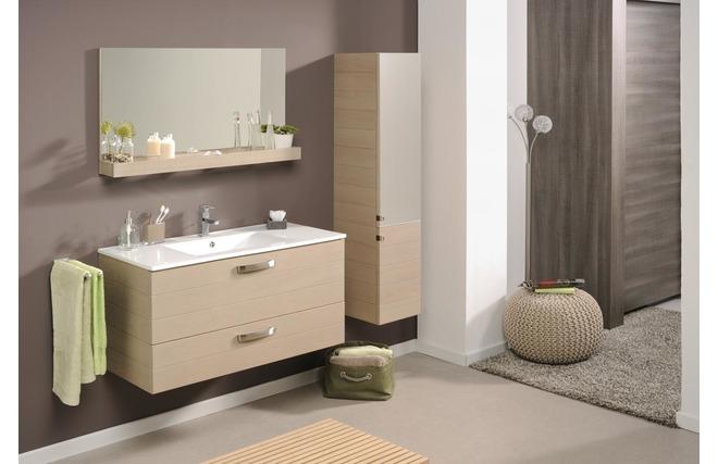 Mueble de cuarto de ba o mueble con pila repisa espejo for Mueble con espejo para bano