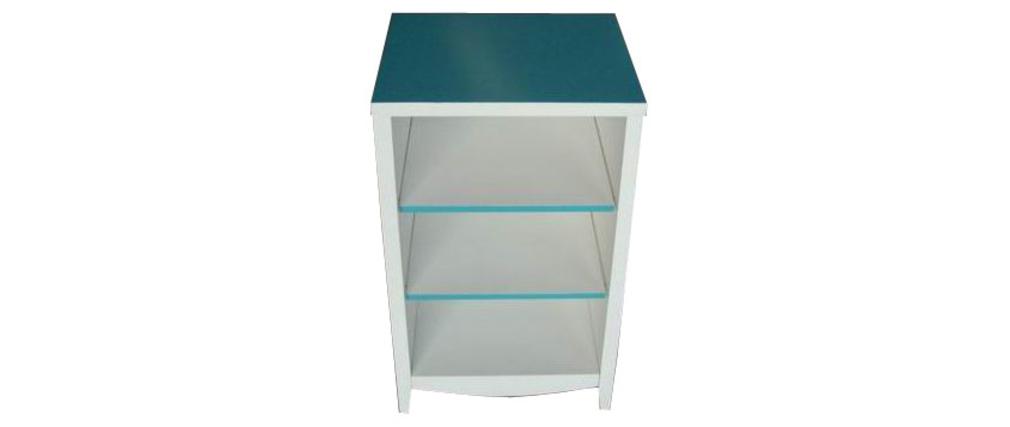 Mueble de cuarto de ba o tropic azul laguna miliboo for Muebles de bano azul