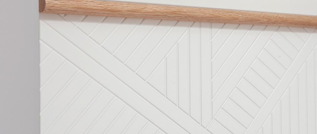Mueble de entrada tocador con almacenaje blanco y madera DARINA