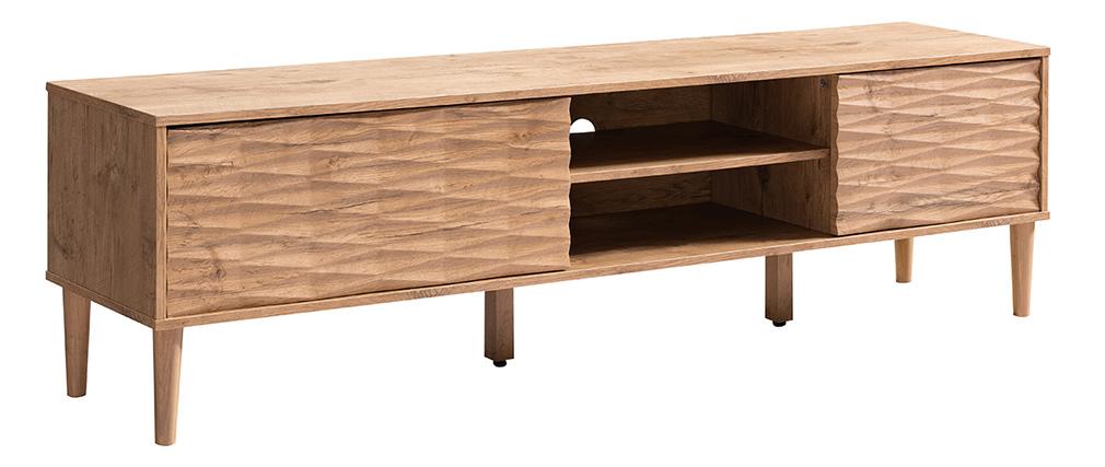 Mueble TV 2 puertas en relieve madera ABY