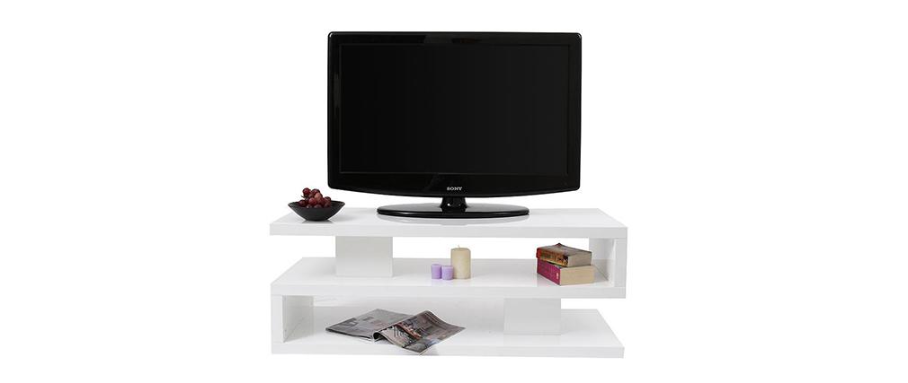 Mueble TV de diseño lacado blanco NEXY
