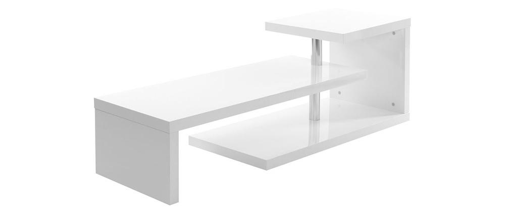 Mueble TV de diseño lacado blanco TURN
