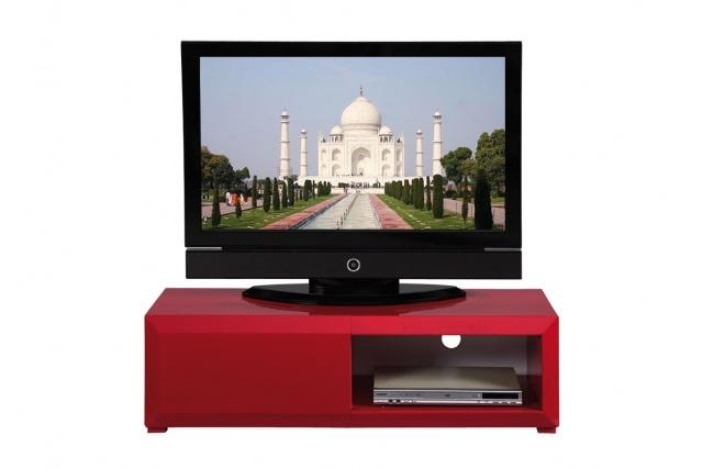Mueble tv de dise o lacado color frambuesa tia zoom - Diseno de muebles de tv ...
