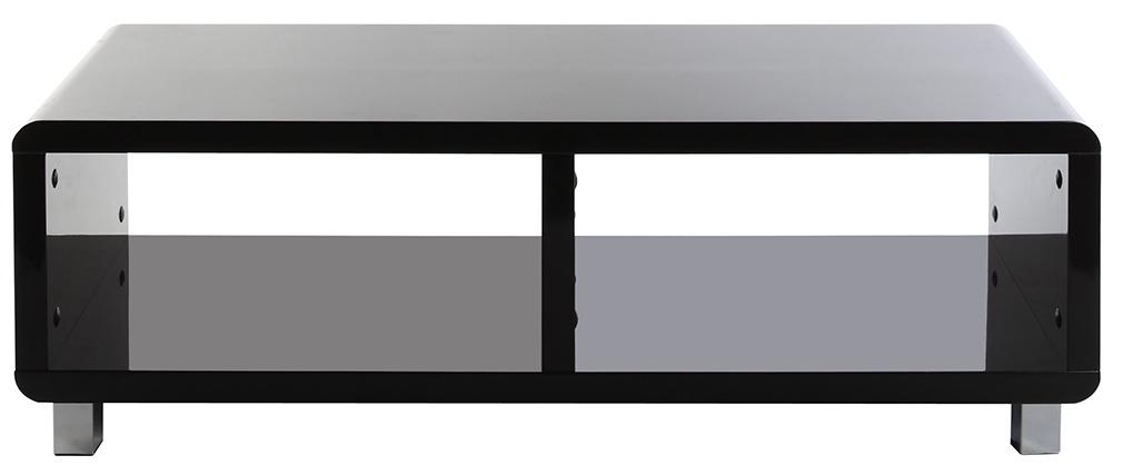 Mueble TV de diseño lacado negro PIXY