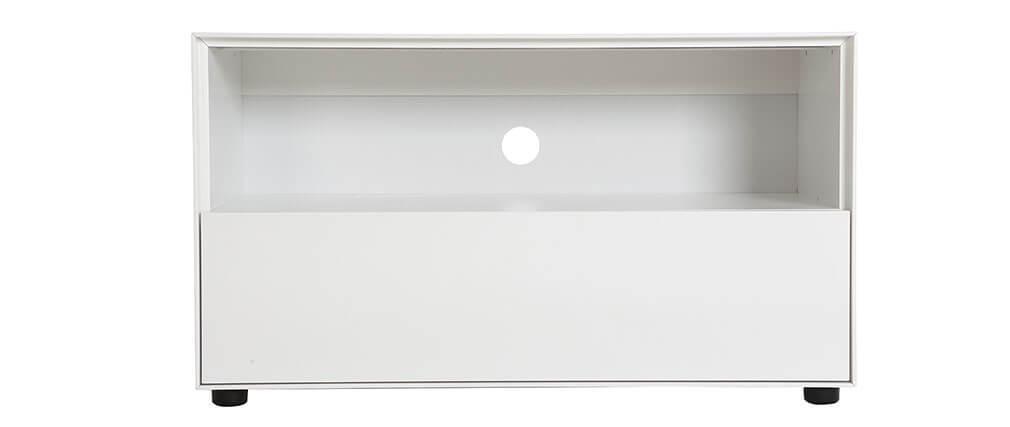 Mueble TV diseño 90cm blanco mate  1 cajón MARK