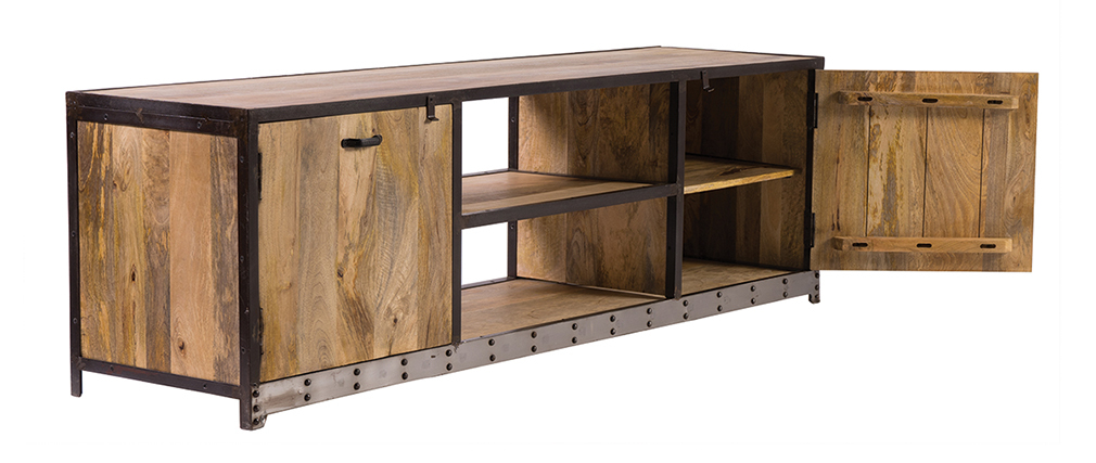 Mueble TV diseño industrial 178cm INDUSTRIA