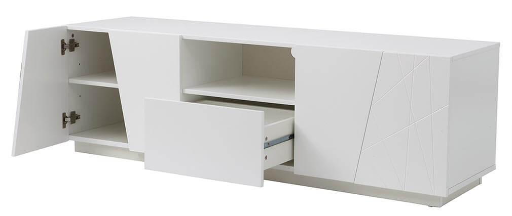 Mueble TV diseño lacado blanco mate ALESSIA