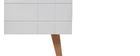 Mueble TV diseño lacado blanco mate y madera ADORNA