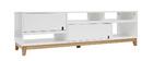 Mueble TV diseño lacado blanco mate y madera SKAL