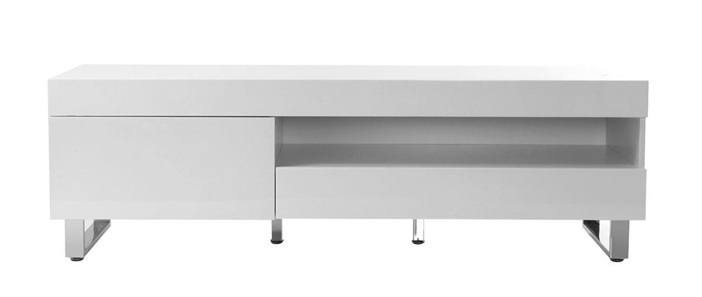 Mueble TV diseño lacado blanco MELHA