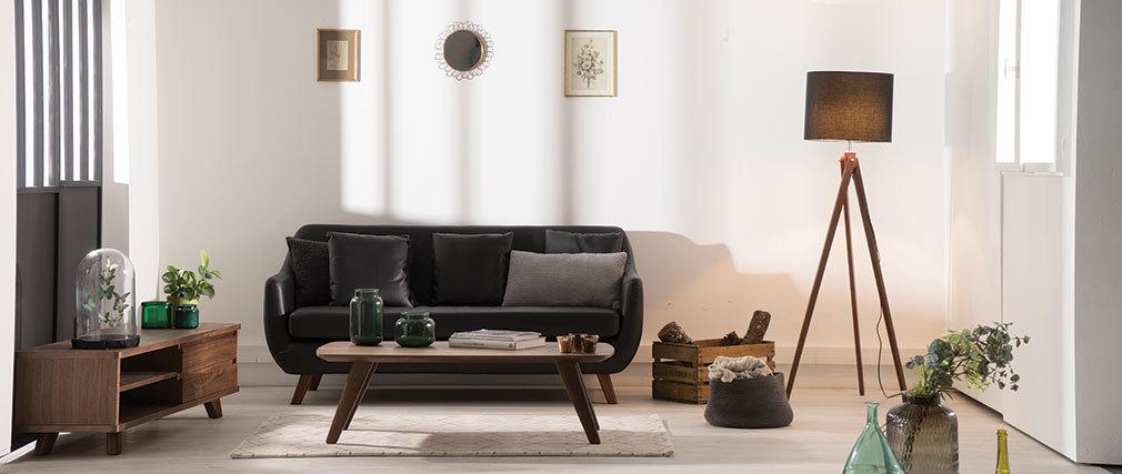 Mueble TV diseño nogal FIFTIES