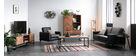 Mueble TV en acacia y metal negro STICK