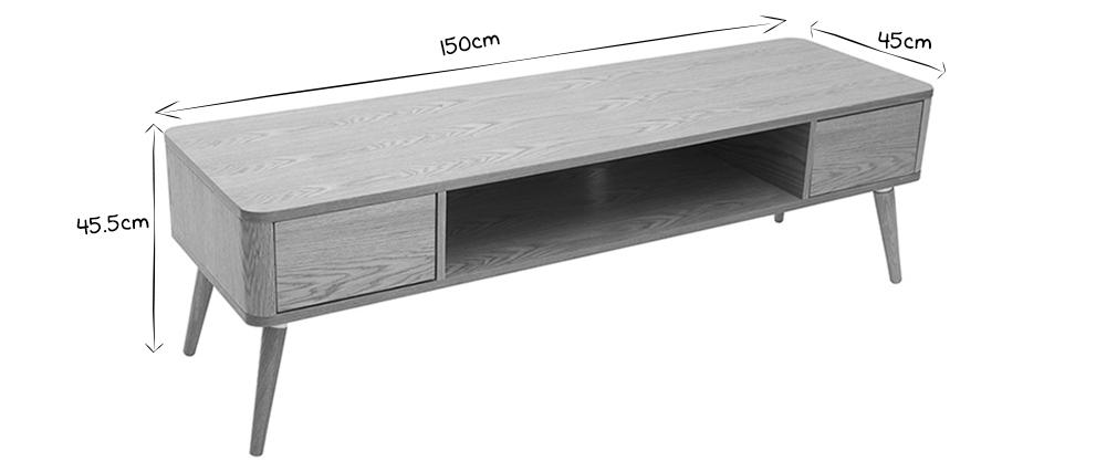Mueble TV en roble claro TOTEM