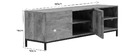 Mueble TV industrial mango y metal YPSTER