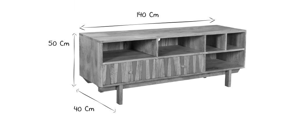 Mueble TV mango y latón ZAIKA