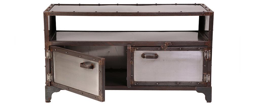 Mueble TV metal industrial 2 puertas FACTORY