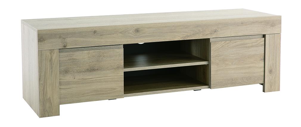 Mueble TV moderno acabado roble L138 cm TINO